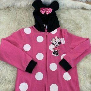 Disney Minnie Mouse Polka Dot Zip Up Jacket Large